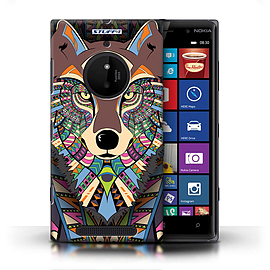 STUFF4 Phone Case/Cover for Nokia Lumia 830/Wolf-Colour Design/Aztec Animal Design Mobile phones