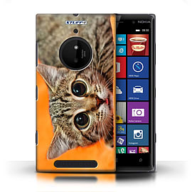 STUFF4 Phone Case/Cover for Nokia Lumia 830/Big Eye Cat Design/Funny Animals Mobile phones
