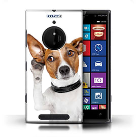 STUFF4 Phone Case/Cover for Nokia Lumia 830/Listening Dog Design/Funny Animals Mobile phones