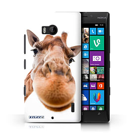 STUFF4 Phone Case/Cover for Nokia Lumia 930/Closeup Giraffe Design/Funny Animals Mobile phones