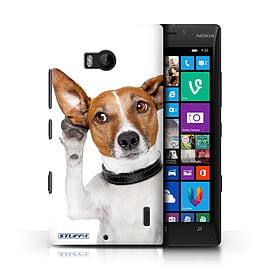 STUFF4 Phone Case/Cover for Nokia Lumia 930/Listening Dog Design/Funny Animals Mobile phones