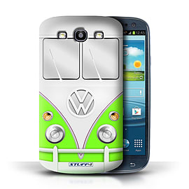 STUFF4 Phone Case/Cover for Samsung Galaxy S3/SIII/Green Design/VW Camper Van Mobile phones