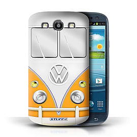 STUFF4 Phone Case/Cover for Samsung Galaxy S3/SIII/Orange Design/VW Camper Van Mobile phones