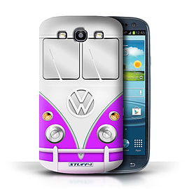 STUFF4 Phone Case/Cover for Samsung Galaxy S3/SIII/Purple Design/VW Camper Van Mobile phones