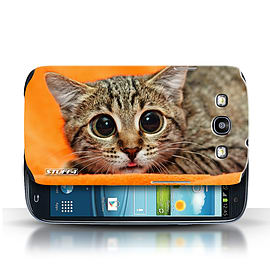 STUFF4 Phone Case/Cover for Samsung Galaxy S3/SIII/Big Eye Cat Design/Funny Animals Mobile phones