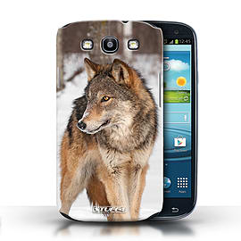 STUFF4 Phone Case/Cover for Samsung Galaxy S3/SIII/Wolf Design/Wildlife Animals Mobile phones