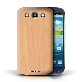 STUFF4 Phone Case/Cover for Samsung Galaxy S3/SIII/Beech Design/Wood Grain Effect/Pattern Mobile phones