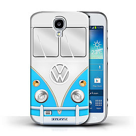 STUFF4 Phone Case/Cover for Samsung Galaxy S4/SIV/Blue Design/VW Camper Van Mobile phones