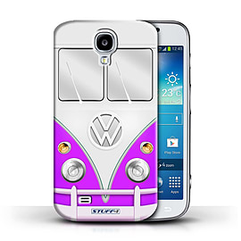 STUFF4 Phone Case/Cover for Samsung Galaxy S4/SIV/Purple Design/VW Camper Van Mobile phones