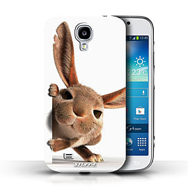 STUFF4 Phone Case/Cover for Samsung Galaxy S4/SIV/Peeking Bunny Design/Funny Animals Mobile phones
