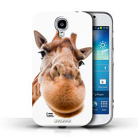 STUFF4 Phone Case/Cover for Samsung Galaxy S4/SIV/Closeup Giraffe Design/Funny Animals Mobile phones