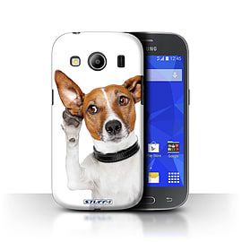 STUFF4 Phone Case/Cover for Samsung Galaxy Ace 4/G357/Listening Dog Design/Funny Animals Mobile phones