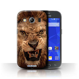 STUFF4 Phone Case/Cover for Samsung Galaxy Ace 4/G357/Lion Design/Wildlife Animals Mobile phones