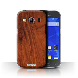 STUFF4 Phone Case/Cover for Samsung Galaxy Ace 4/G357/Mahogany Design/Wood Grain Effect/Pattern Mobile phones