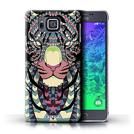 STUFF4 Phone Case/Cover for Samsung Galaxy Alpha/Tiger-Colour Design/Aztec Animal Design Mobile phones