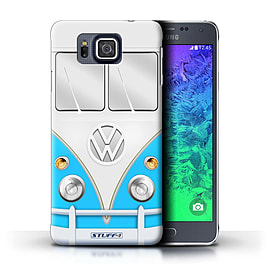 STUFF4 Phone Case/Cover for Samsung Galaxy Alpha/Blue Design/VW Camper Van Mobile phones