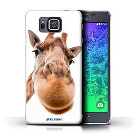 STUFF4 Phone Case/Cover for Samsung Galaxy Alpha/Closeup Giraffe Design/Funny Animals Mobile phones