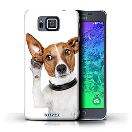 STUFF4 Phone Case/Cover for Samsung Galaxy Alpha/Listening Dog Design/Funny Animals Mobile phones