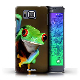 STUFF4 Phone Case/Cover for Samsung Galaxy Alpha/Frog Design/Wildlife Animals Mobile phones
