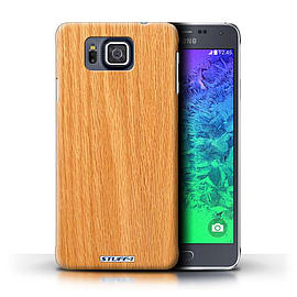 STUFF4 Phone Case/Cover for Samsung Galaxy Alpha/Pine Design/Wood Grain Effect/Pattern Mobile phones