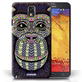 STUFF4 Phone Case/Cover for Samsung Galaxy Note 3/Monkey-Colour Design/Aztec Animal Design Mobile phones
