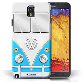STUFF4 Phone Case/Cover for Samsung Galaxy Note 3/Blue Design/VW Camper Van Mobile phones