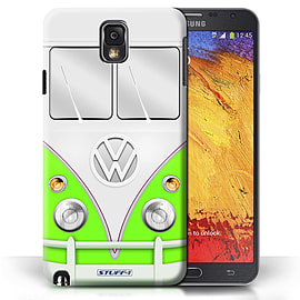 STUFF4 Phone Case/Cover for Samsung Galaxy Note 3/Green Design/VW Camper Van Mobile phones