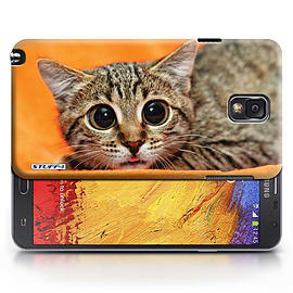 STUFF4 Phone Case/Cover for Samsung Galaxy Note 3/Big Eye Cat Design/Funny Animals Mobile phones