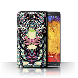 STUFF4 Phone Case/Cover for Samsung Galaxy Note 3 Neo/Tiger-Colour Design/Aztec Animal Design Mobile phones