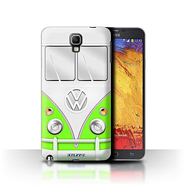 STUFF4 Phone Case/Cover for Samsung Galaxy Note 3 Neo/Green Design/VW Camper Van Mobile phones