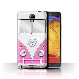 STUFF4 Phone Case/Cover for Samsung Galaxy Note 3 Neo/Pink Design/VW Camper Van Mobile phones