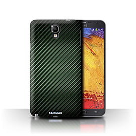 STUFF4 Phone Case/Cover for Samsung Galaxy Note 3 Neo/Green Design/Carbon Fibre Effect/Pattern Mobile phones