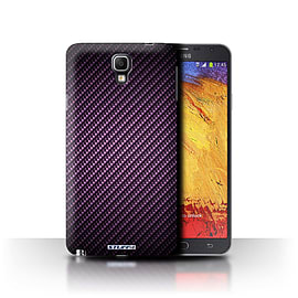 STUFF4 Phone Case/Cover for Samsung Galaxy Note 3 Neo/Purple Design/Carbon Fibre Effect/Pattern Mobile phones