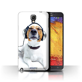 STUFF4 Phone Case/Cover for Samsung Galaxy Note 3 Neo/Chillin Headphone Dog Design/Funny Animals Mobile phones