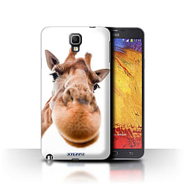 STUFF4 Phone Case/Cover for Samsung Galaxy Note 3 Neo/Closeup Giraffe Design/Funny Animals Mobile phones
