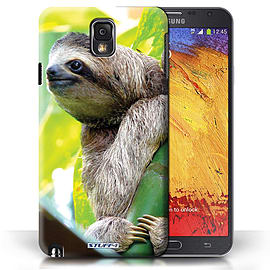 STUFF4 Phone Case/Cover for Samsung Galaxy Note 3/Sloth Design/Wildlife Animals Mobile phones
