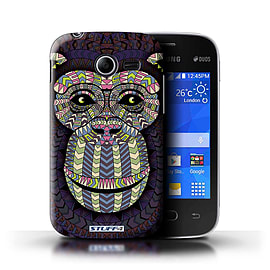 STUFF4 Phone Case/Cover for Samsung Galaxy Pocket 2/Monkey-Colour Design/Aztec Animal Design Mobile phones