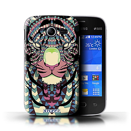 STUFF4 Phone Case/Cover for Samsung Galaxy Pocket 2/Tiger-Colour Design/Aztec Animal Design Mobile phones