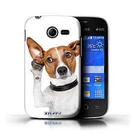 STUFF4 Phone Case/Cover for Samsung Galaxy Pocket 2/Listening Dog Design/Funny Animals Mobile phones