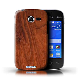 STUFF4 Phone Case/Cover for Samsung Galaxy Pocket 2/Mahogany Design/Wood Grain Effect/Pattern Mobile phones