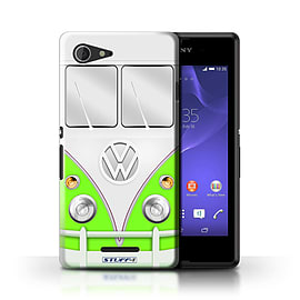 STUFF4 Phone Case/Cover for Sony Xperia E3/Green Design/VW Camper Van Mobile phones