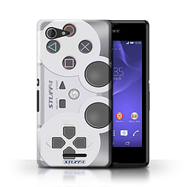 STUFF4 Phone Case/Cover for Sony Xperia E3/Playstation PS1 Design/Games Console Mobile phones
