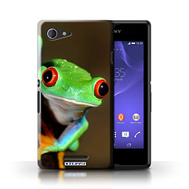 STUFF4 Phone Case/Cover for Sony Xperia E3/Frog Design/Wildlife Animals Mobile phones