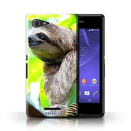 STUFF4 Phone Case/Cover for Sony Xperia E3/Sloth Design/Wildlife Animals Mobile phones