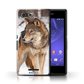 STUFF4 Phone Case/Cover for Sony Xperia E3/Wolf Design/Wildlife Animals Mobile phones