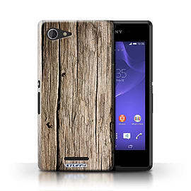 STUFF4 Phone Case/Cover for Sony Xperia E3/Driftwood Design/Wood Grain Effect/Pattern Mobile phones