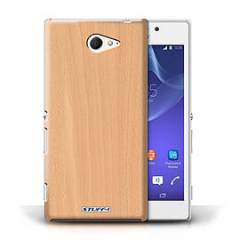 STUFF4 Phone Case/Cover for Sony Xperia M2/Beech Design/Wood Grain Effect/Pattern Mobile phones