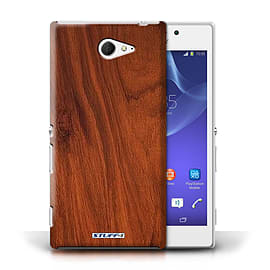 STUFF4 Phone Case/Cover for Sony Xperia M2/Mahogany Design/Wood Grain Effect/Pattern Mobile phones