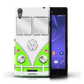 STUFF4 Phone Case/Cover for Sony Xperia T3/Green Design/VW Camper Van Mobile phones