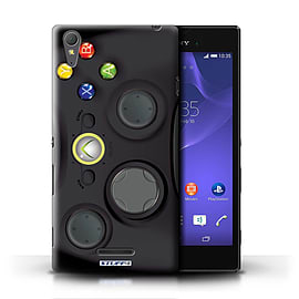 STUFF4 Phone Case/Cover for Sony Xperia T3/Black Xbox 360 Design/Games Console Mobile phones